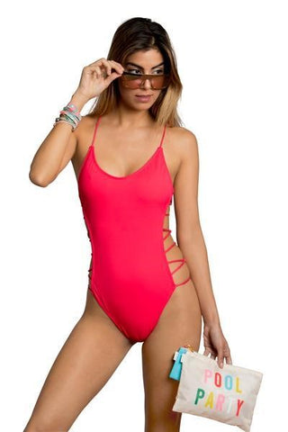 Strappy One-Piece Swimsuit by Cristalina Collection