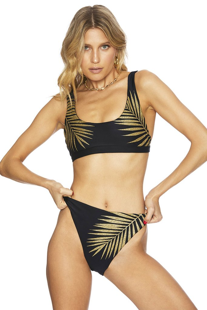 Gold Palm Beach Bikini Bottom