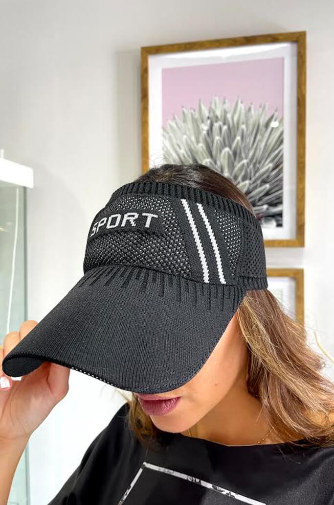 Black & White Sporty Modern Visor