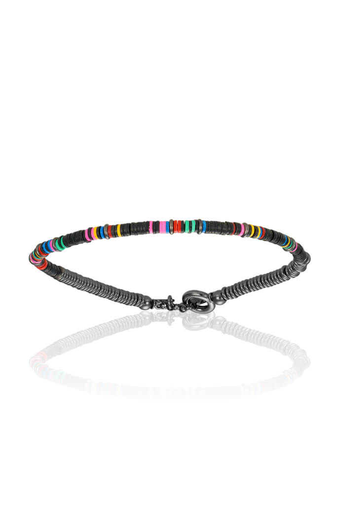 Black PVD African Beaded - S