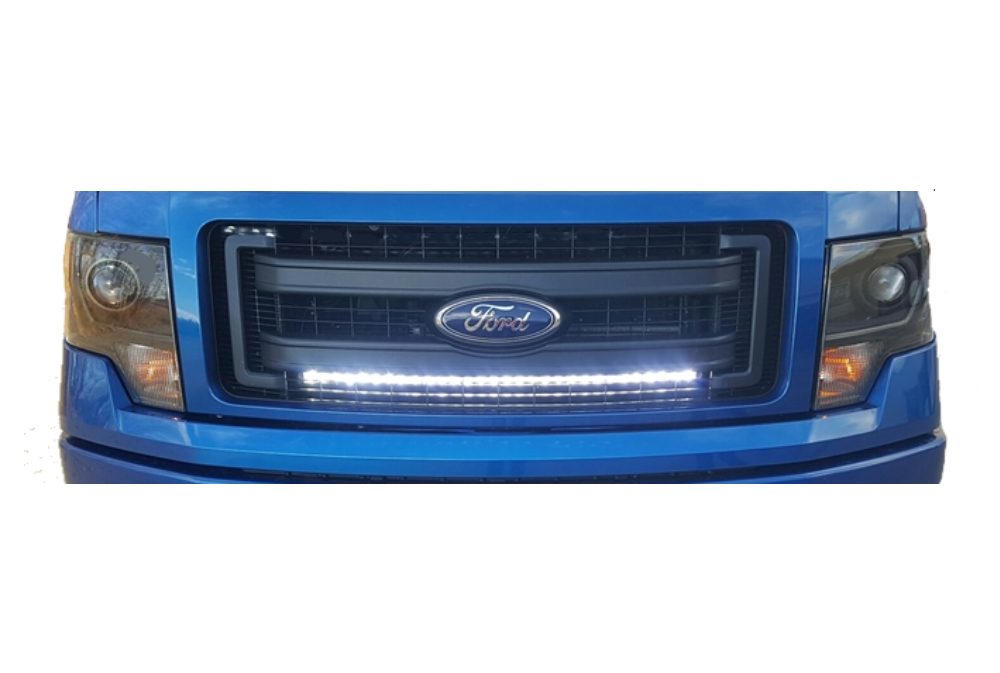 09 14 ford f150 behind the grille 30 led lightbar kit radiant led 09 14 f150 30 light bar behind the grille kit aloadofball Gallery