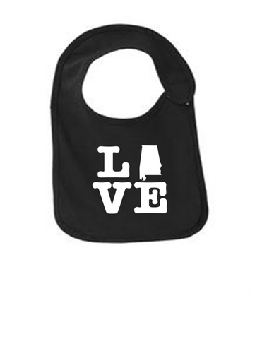 Alabama Love Bib