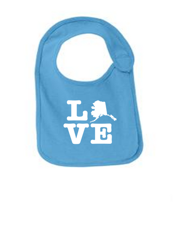 Alaska Love Funny Infant Jersey Bib