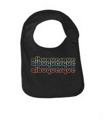 Albuquerque-New-Mexico-Retro-Funny-Infant-Jersey-Bib