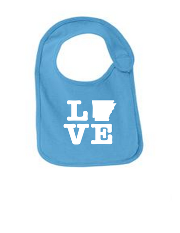 Arkansas Love Funny Infant Jersey Bib