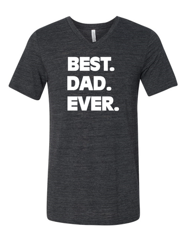 Best Dad Ever LL 3005 Slogan homorous Premium V-Neck T-shirt