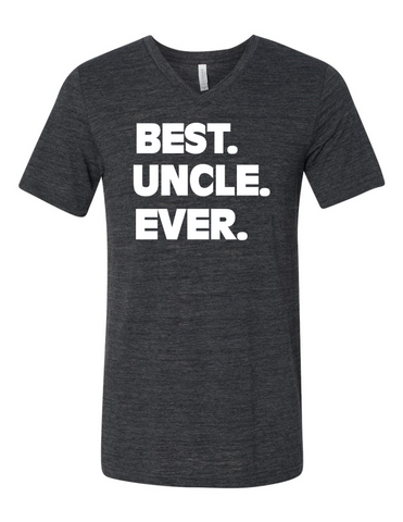 Best Uncle Ever LL 3005 Slogan homorous Premium V-Neck T-shirt