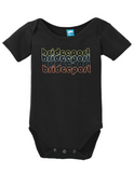 Bridgeport Connecticut Retro Onesie Funny Bodysuit Baby Romper