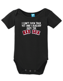 Cant Talk Already Hate The Red Sox Onesie Funny Bodysuit Baby Romper