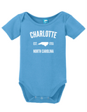 Charlotte North Carolina Est 1755 Onesie