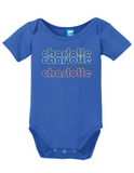 Charlotte North Carolina Retro Onesie