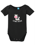 Cows Rock Onesie Funny Humorous Infant & Toddler Bodysuit Baby Romper