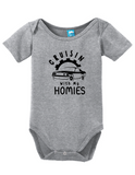 crusin with my homies funny bodysuit baby romper