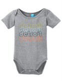 Detroit Michigan Retro Onesie Funny Bodysuit Baby Romper