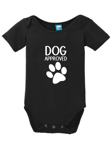 Dog Approved Onesie Funny Humorous Infant & Toddler Bodysuit Baby Romper