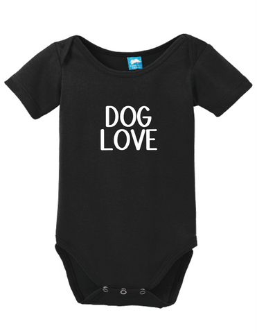 Dog Love Onesie Funny Humorous Infant & Toddler Bodysuit Baby Romper