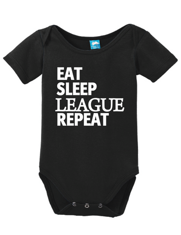 Eat Sleep League Onesie