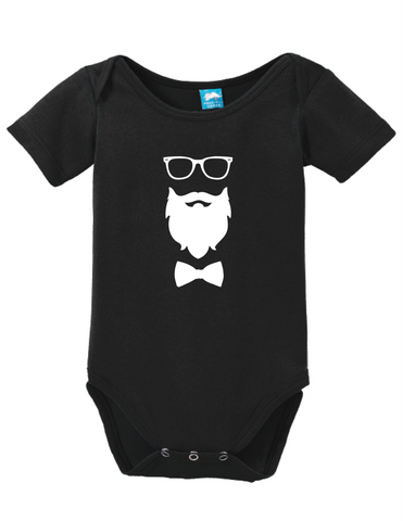 Glasses Beard Bow Onesie
