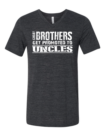 Great Brothers Get Promoted LL 3005 Slogan homorous Premium V-Neck T-shirt
