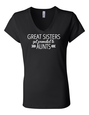Great Sisters get Promoted LL 6005 Womens Premium V-Neck T-Shirt