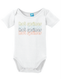 Hot Springs Arkansas Retro Onesie Funny Bodysuit Baby Romper