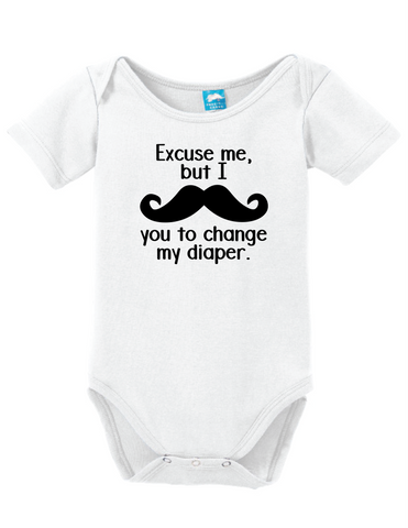 I Mustache You To Change My Diaper