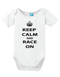 Keep Calm Race On Onesie