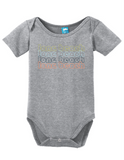Long Beach California Retro Onesie Funny Bodysuit Baby Romper