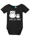 Loved By Nana Onesie Funny Bodysuit Baby Romper