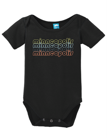 Minneapolis Minnesota Retro Onesie Funny Bodysuit Baby Romper