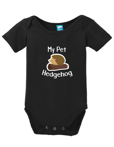 My Pet Hedgehog Onesie Funny Humorous Infant & Toddler Bodysuit Baby Romper