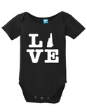 New Hampshire Love Onesie Funny Bodysuit Baby Romper