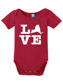 New York Love Onesie Funny Bodysuit Baby Romper