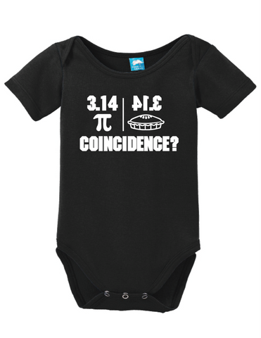Pi Coincidence Onesie Funny Bodysuit Baby Romper