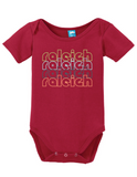 Raleigh North Carolina Retro Onesie Funny Bodysuit Baby Romper