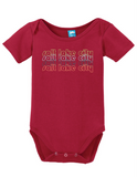Salt Lake City Utah Retro Onesie Funny Bodysuit Baby Romper
