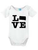 South Dakota Love Onesie Funny Bodysuit Baby Romper