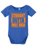 Straight Outta Mile High Onesie Funny Bodysuit Baby Romper