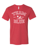 Team Blue Football Gender Reveal 3005 Premium V-Neck T-shirt