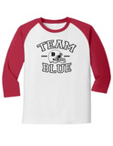 Team Blue Football Gender Reveal 5700 Raglan T Shirt