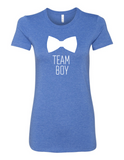 Team Boy Bowtie Gender Reveal 6004 Premium Women's Crewneck T-Shirt Slogan