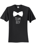Team Boy Bowtie Gender Reveal 3930 Slogan Humorous Tee Shirt