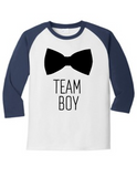 Team Boy Bowtie Gender Reveal 5700 Raglan T Shirt