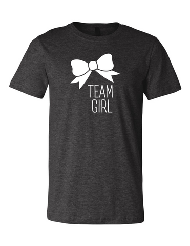 Team Girl Bow Gender Reveal 3001 Premium Crewneck T-Shirt Slogan Humorous