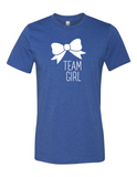 Team Girl Bow Gender Reveal 3001 Premium Crewneck T-Shirt