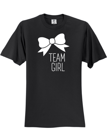 Team Girl Bow Gender Reveal 3930 Slogan Humorous Tee Shirt