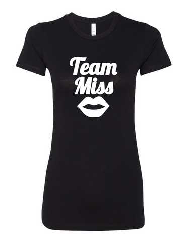 Team Miss Gender Reveal 6004 Premium Women's Crewneck T-Shirt Slogan