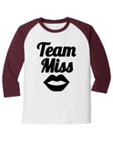 Team Miss Gender Reveal 5700 Raglan T Shirt