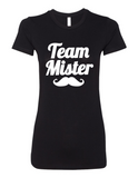 Team Mister Gender Reveal 6004 Premium Women's Crewneck T-Shirt Slogan