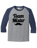 Team Mister Gender Reveal 5700 Raglan T Shirt